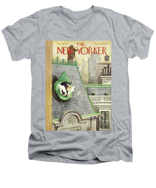 New Yorker May 24 1941 Men's V-Neck T-Shirt