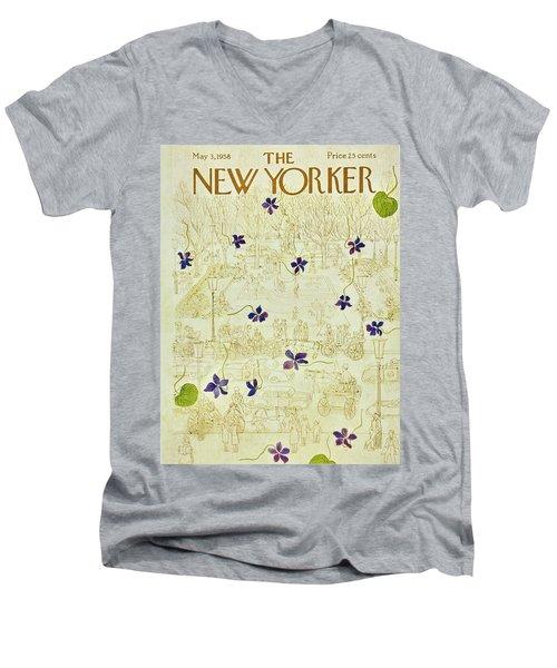 New Yorker May 3 1958 Men's V-Neck T-Shirt