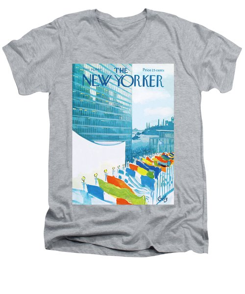New Yorker November 14th, 1964 Men's V-Neck T-Shirt