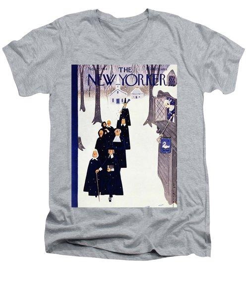 New Yorker November 27 1954 Men's V-Neck T-Shirt