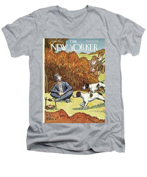 New Yorker November 8 1941 Men's V-Neck T-Shirt