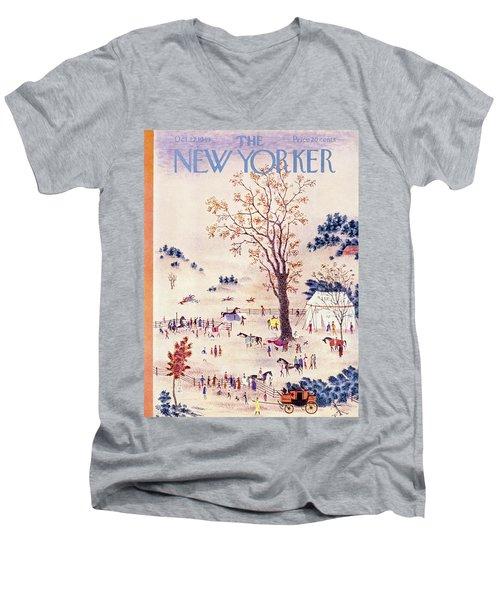New Yorker October 22 1949 Men's V-Neck T-Shirt