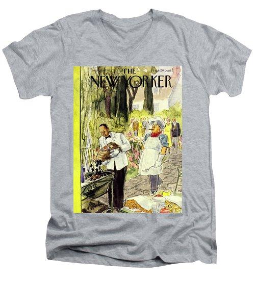 New Yorker September 16 1950 Men's V-Neck T-Shirt