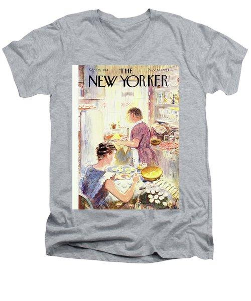 New Yorker September 18 1954 Men's V-Neck T-Shirt
