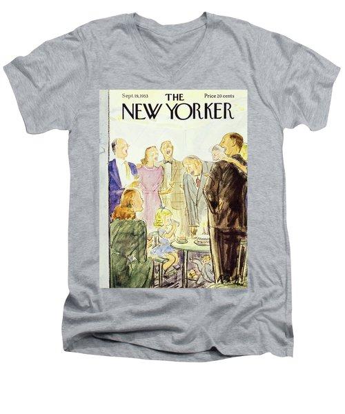 New Yorker September 19 1953 Men's V-Neck T-Shirt