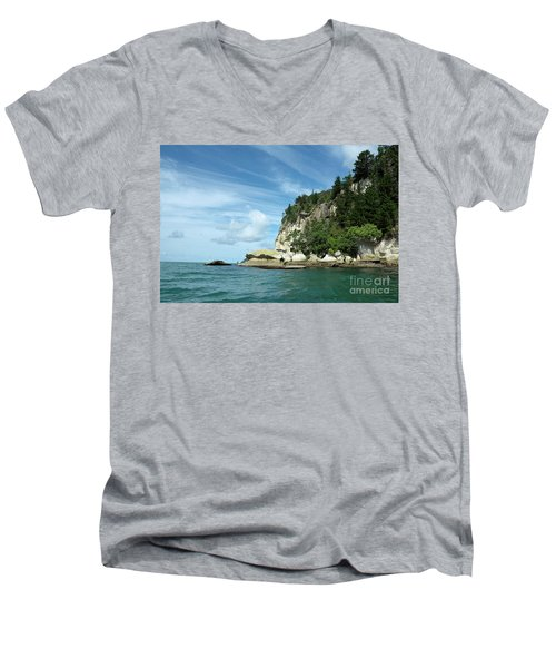 Men's V-Neck T-Shirt featuring the photograph New Zealand Beauties by Yurix Sardinelly