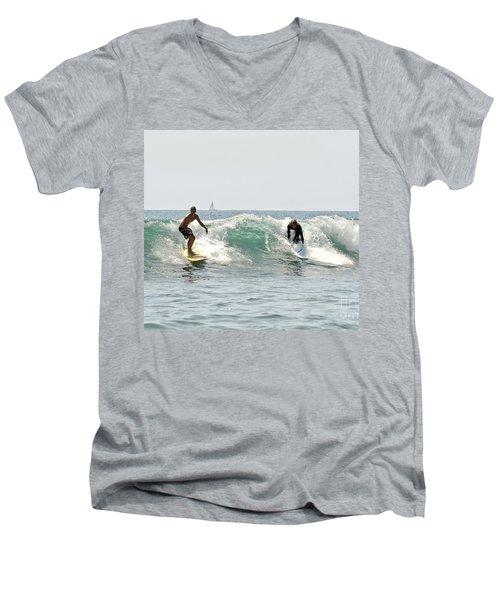 New Zealand Surf Men's V-Neck T-Shirt by Yurix Sardinelly