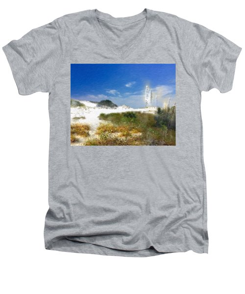 New Zealand Toi Toi Coastal Grasses Men's V-Neck T-Shirt