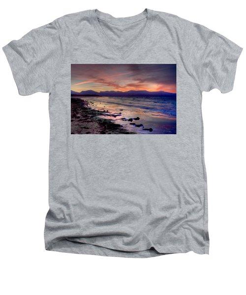 Newborough Sunrise Men's V-Neck T-Shirt