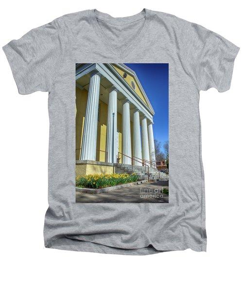 Newburgh Courthouse On Grand Street 2 Men's V-Neck T-Shirt