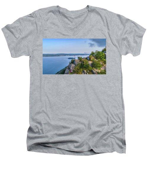 Newburgh From Breakneck Ridge Men's V-Neck T-Shirt