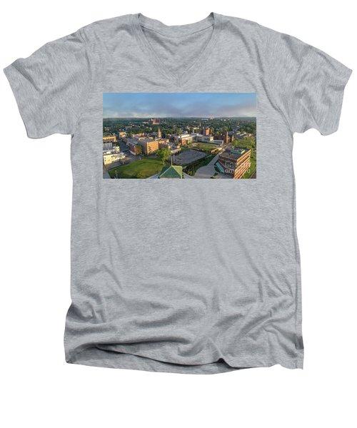 Newburgh New York At Sunrise Men's V-Neck T-Shirt