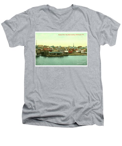Newburgh Steamers Ferrys And River - 15 Men's V-Neck T-Shirt