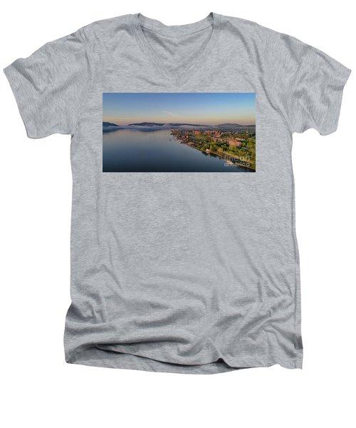 Newburgh Waterfront At Sunrise Men's V-Neck T-Shirt