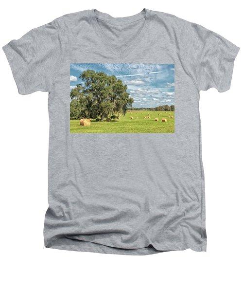Newly Baled Hay Men's V-Neck T-Shirt