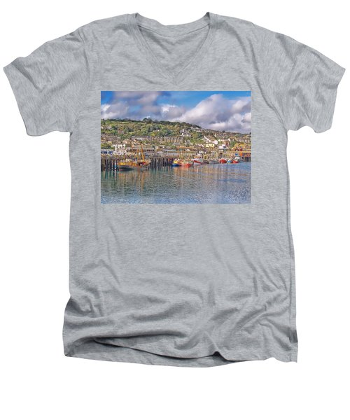 Newlyn Harbour Cornwall 2 Men's V-Neck T-Shirt