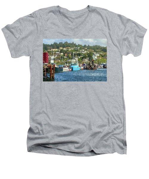 Newport Harbor Men's V-Neck T-Shirt by James Eddy
