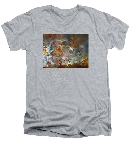 Ngc 3372 Taken By Hubble Space Telescope Men's V-Neck T-Shirt