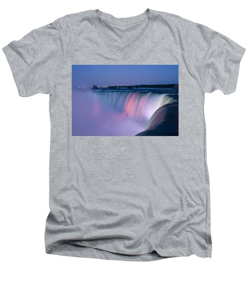 Niagara Falls At Dusk Men's V-Neck T-Shirt