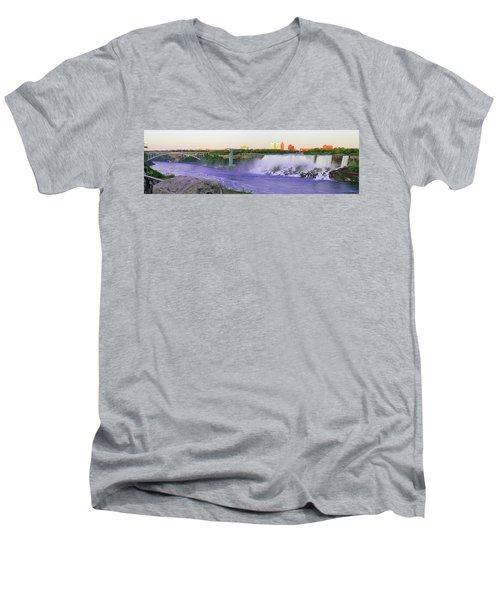 Niagara Falls At Dusk Men's V-Neck T-Shirt