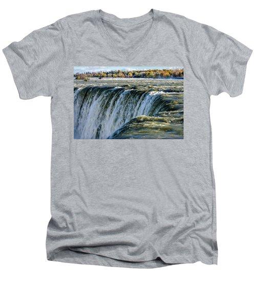 Niagara Falls In Autumn Men's V-Neck T-Shirt