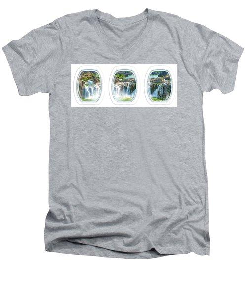Niagara Falls Porthole Windows Men's V-Neck T-Shirt
