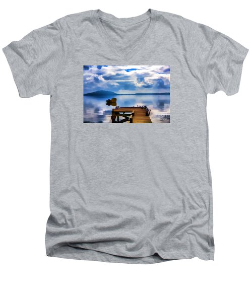 Men's V-Neck T-Shirt featuring the photograph Nice Dock by Rick Bragan