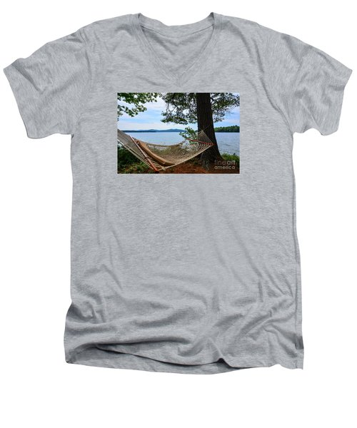 Nice Spot For A Nap Men's V-Neck T-Shirt by Mim White