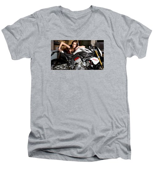 Men's V-Neck T-Shirt featuring the photograph Nice View by Lawrence Christopher
