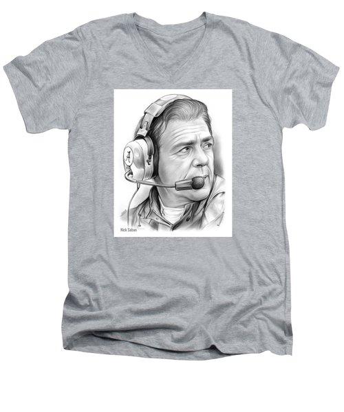 Nick Saban Men's V-Neck T-Shirt
