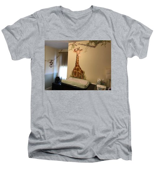 Nicks Room Men's V-Neck T-Shirt