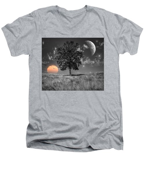 Night And Day Men's V-Neck T-Shirt