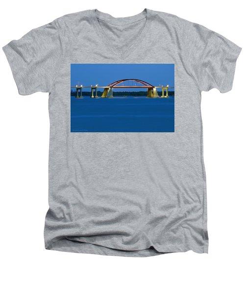 Night Bridge Men's V-Neck T-Shirt