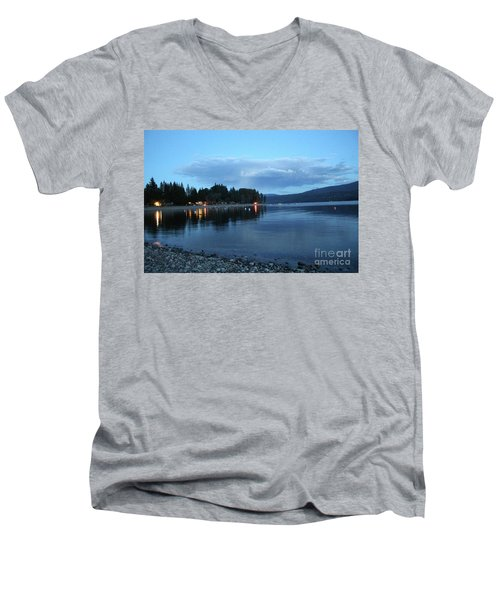 Men's V-Neck T-Shirt featuring the photograph Night Fall by Victor K