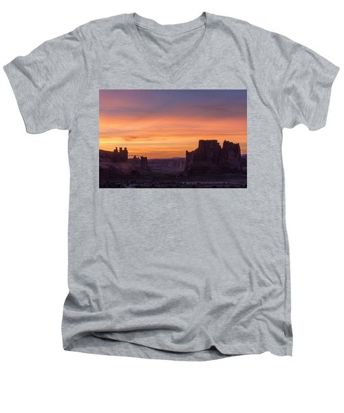 Night Falls Gently Men's V-Neck T-Shirt