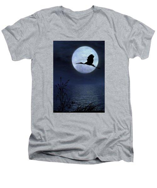 Night Flight Men's V-Neck T-Shirt by Christina Lihani