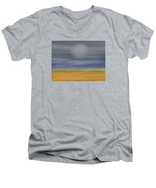 Night Fog On The Beach Men's V-Neck T-Shirt