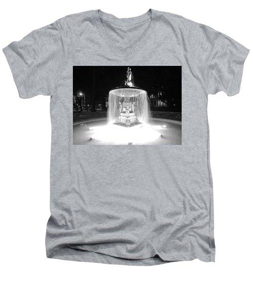 Night Fountain Men's V-Neck T-Shirt