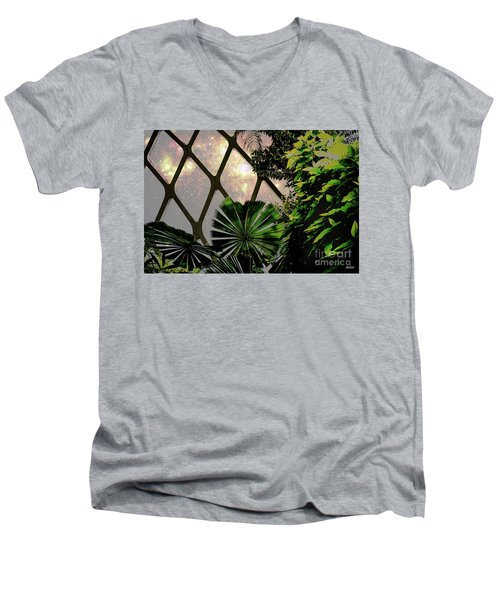Night In The Arboretum Men's V-Neck T-Shirt by Deborah Nakano