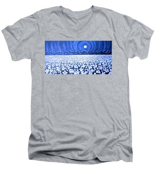 Night Light Men's V-Neck T-Shirt by Jeanette Jarmon