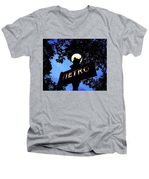 Night Ride Men's V-Neck T-Shirt