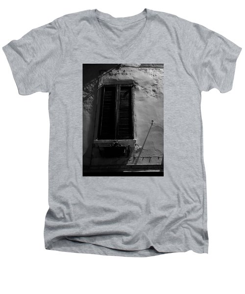 Night Shadows Men's V-Neck T-Shirt by Cesare Bargiggia
