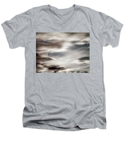 Men's V-Neck T-Shirt featuring the photograph Night Sky 3 by Leland D Howard