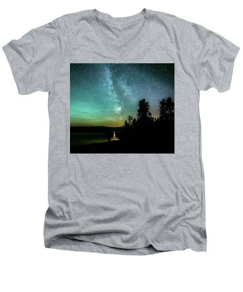 Night Sky Men's V-Neck T-Shirt by Rose-Marie Karlsen