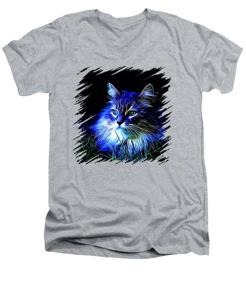 Night Stalker Tp Men's V-Neck T-Shirt by Kathy Kelly