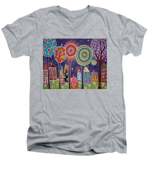 Night Village Men's V-Neck T-Shirt