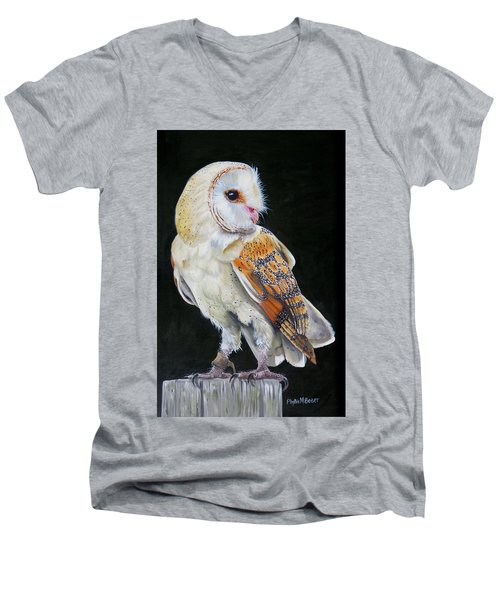 Night Watch Men's V-Neck T-Shirt by Phyllis Beiser