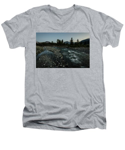Nightfall In Montana Men's V-Neck T-Shirt