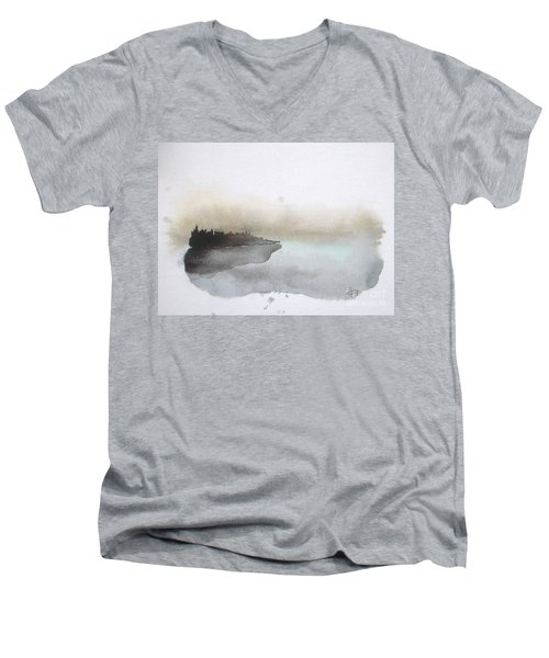 Nightfall On The Lake  Men's V-Neck T-Shirt