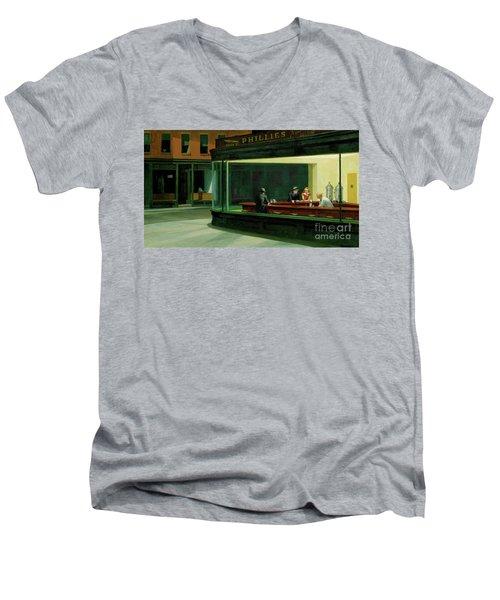 Nighthawks New Men's V-Neck T-Shirt
